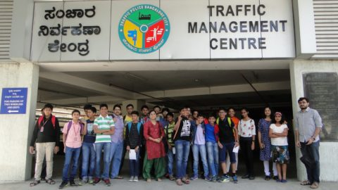 QuizShala Students of NPS Indiranagar visit Bengaluru Traffic Management Centre
